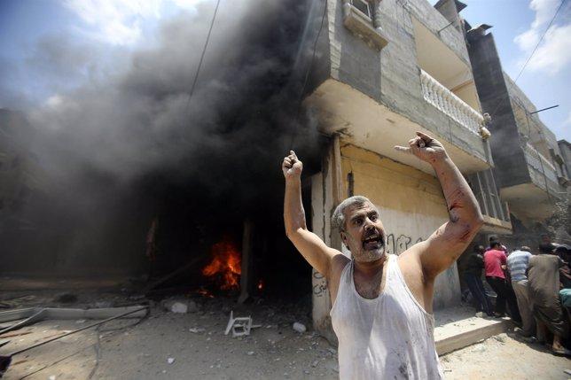 Bombardeo de Israel en Gaza