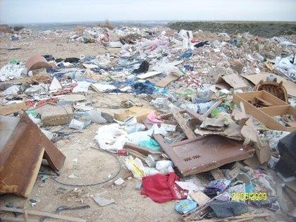 Clausurada la escombrera municipal situada en el paraje 'Las Portilladas' de Ejea