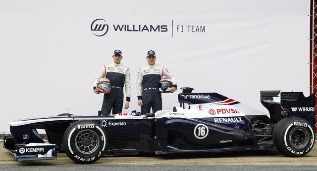 Pastor Maldonado y Valtteri Bottas