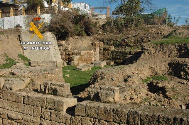 Yacimiento arqueológico de Los Toscanos, en Vélez Málaga