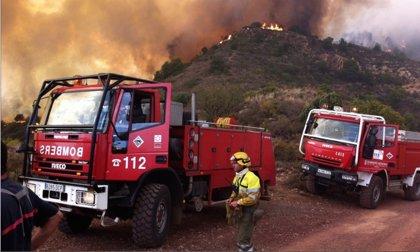 Un rayo latente ha sido la causa del incendio de la Vall, que está estabilizado tras quemar 169 hectáreas