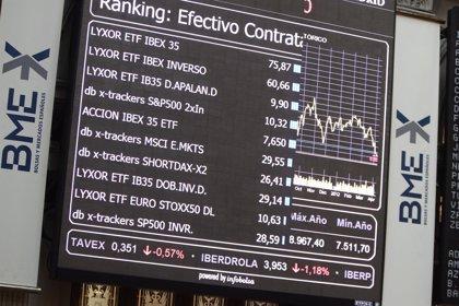 Economía/Bolsa.- El Ibex cede un 0,2% y arriesga los 10.500 enteros en la media sesión