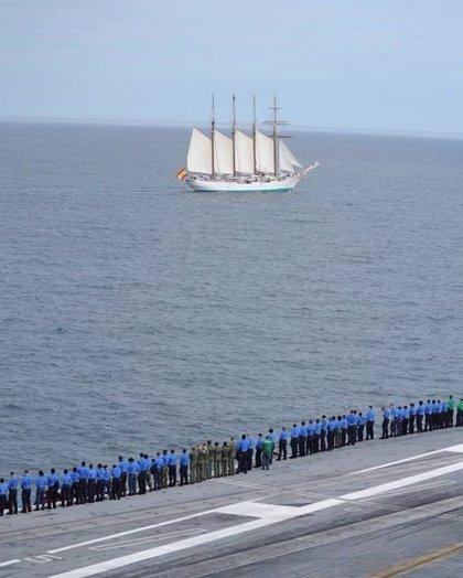 El buque-escuela 'Juan Sebastián Elcano' finaliza su 85 crucero de instrucción tras recorrer 18.000 millas