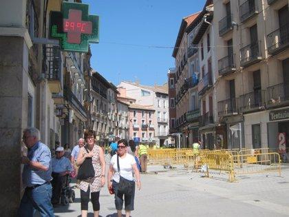 Las obras de peatonalización de Huesca concluirán este mes