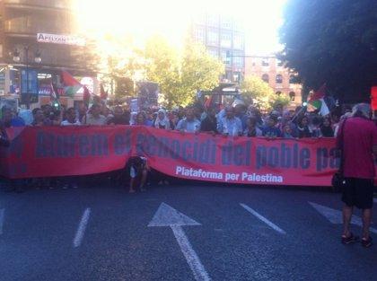 Centenares de personas se concentran en Valencia en solidaridad con el pueblo palestino