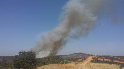 Declarado el nivel 0 de emergencias en el incendio de Bustares