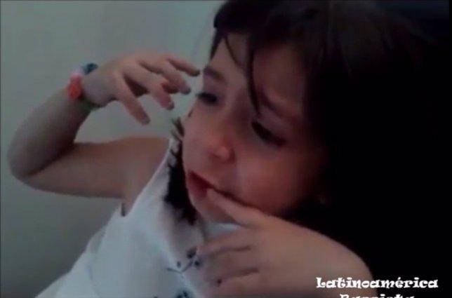 Niña llora por James Rodríguez