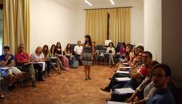 Gema Sancho, en los cursos de la UPO en Carmona