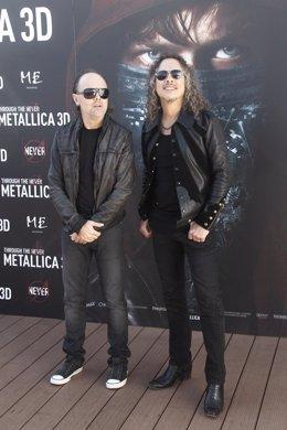Lars Ulrich y Kirk Hammett de Metallica