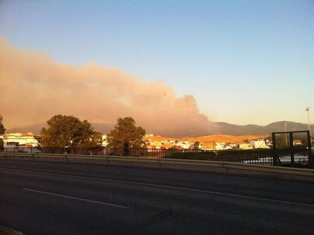 Imagen del incendio declarado en Arroyo de la Miel