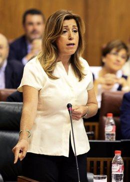 Susana Díaz en el Pleno del Parlamento andaluz