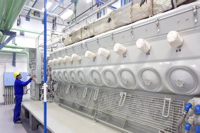 Generador Diésel de la central nuclear de Santa María de Garoña