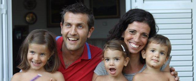 Jano Galán y su familia