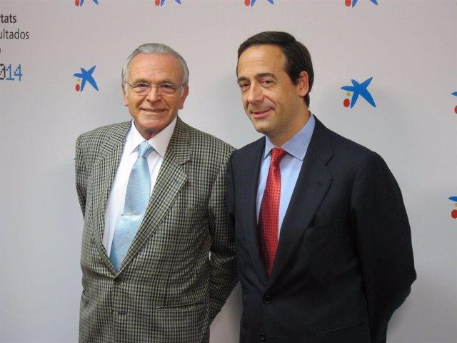El pte de CaixaBank, Isidre Fainé, y el consejero delegado Gonzalo Gortázar