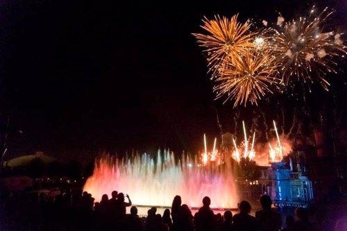 Fuegos artificiales Parque Warner Madrid