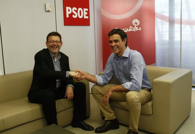 Pedro Sánchez con Ximo Puig