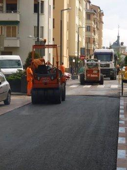 Pavimentación de la calle Gorriti.