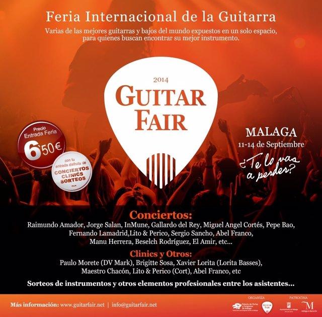 Cartel de la Feria Internacional de la Guitarra Fycma Málaga