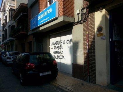 """El PP de l'Eliana (Valencia) denuncia """"pintadas amenazantes de muerte"""" en su fachada"""