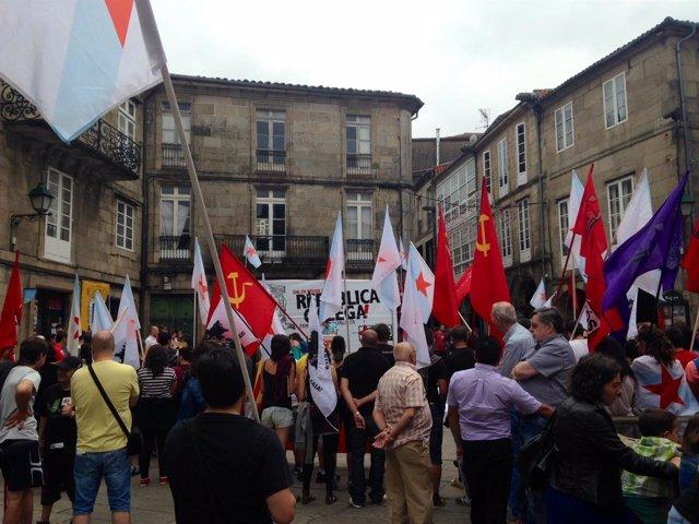 Manifestación de Nós-UP del 25 de julio
