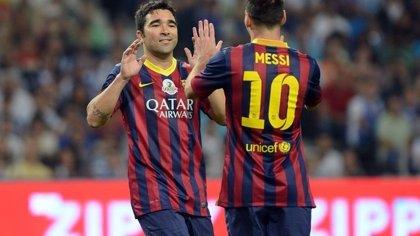Deco recibe un homenaje a lo grande con Messi y Eto'o luciéndose