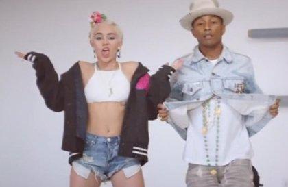 Miley Cyrus baila en el nuevo clip de Pharrell Williams