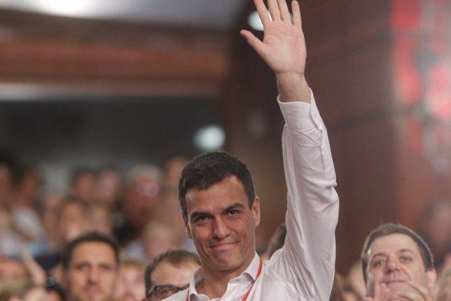 Pedro Sánchez en el Congreso extraordinario del PSOE