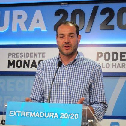 """El PP considera """"un hito"""" que Extremadura haya """"roto la barrera psicológica"""" del 30% de paro"""