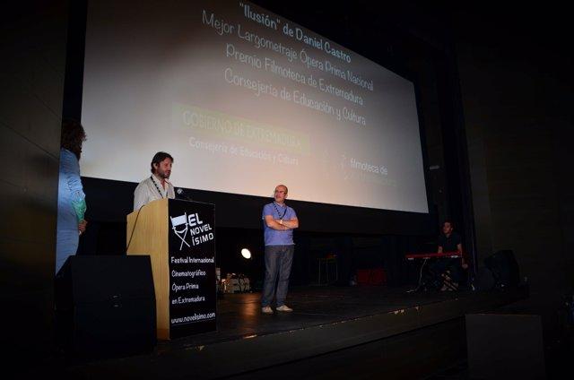 Daniel Castro, ganador del mejor largometraje del Novelísimo