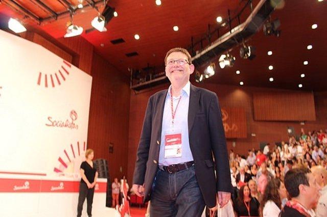 Ximo Puig en el Congreso Federal del PSOE