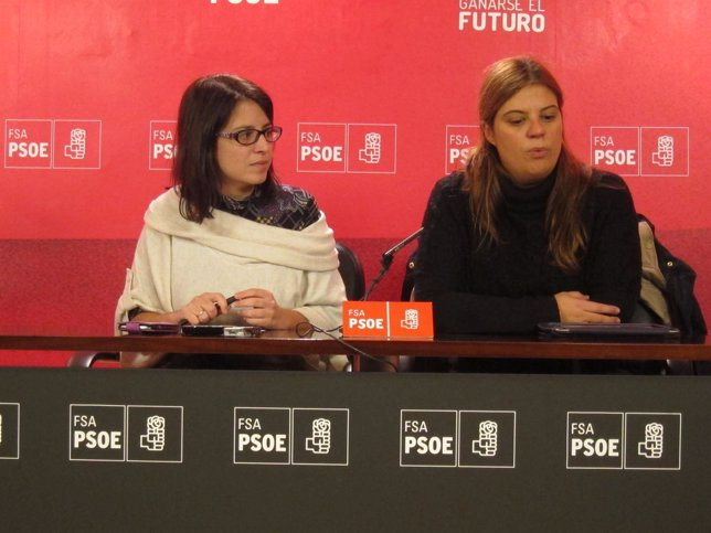 Adriana Lastra y Gimena Llamedo (igualdad FSA-PSOE)