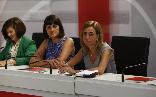 Carme Chacón en la Ejecutiva del PSOE