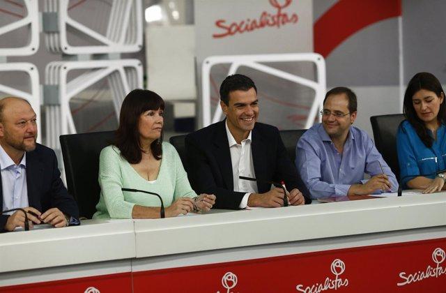 Ejecutiva Federal del PSOE, con Pedro Sánchez