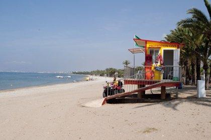 La bandera verde ondea en todos los puestos de vigilancia de las playas de la Región