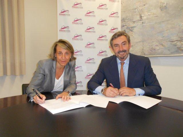 Firma del acuerdo entre Fibers y Motorpress Ibérica