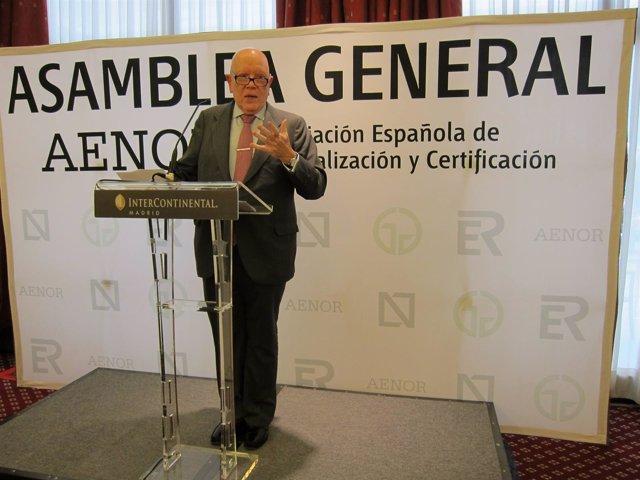 Presidente De AENOR, Manuel López Cachero