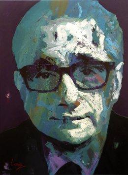 Retrato del cineasta Martin Scorsese, por Alberto Ramírez