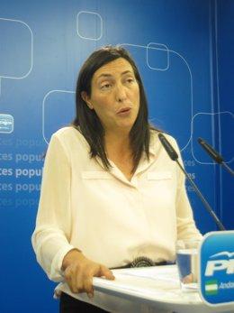 Dolores López, hoy en rueda de prensa