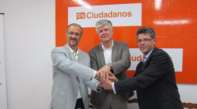 Acto de presentación a los medios del acuerdo entre UPS y Ciudadanos
