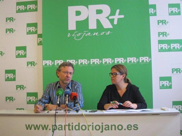 Julio Revuelta Altuna y Raquel Recio Recio, en rueda de prensa