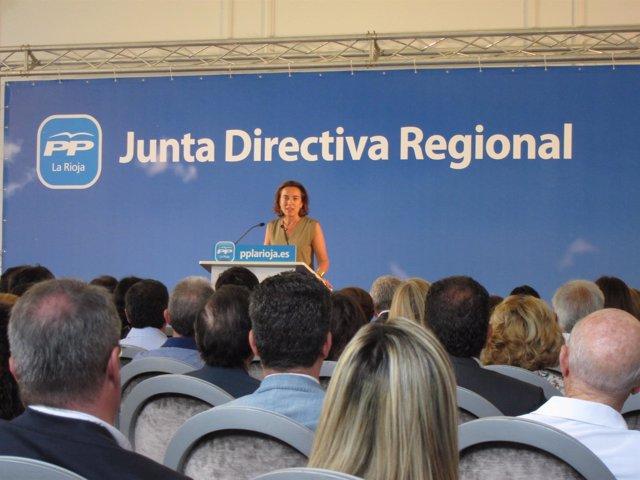 Gamarra, en su intervención en la JUnta Directiva del PP riojano