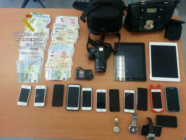 Objetos robados en Magaluf (Mallorca)