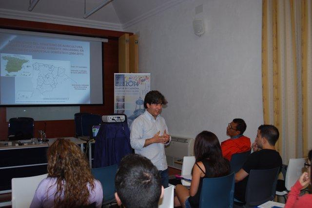 Antonio Rosal durante el curso