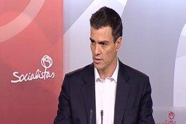 """Pedro Sánchez: """"Estamos muy lejos de entendernos con el PP en regeneración democrática"""""""