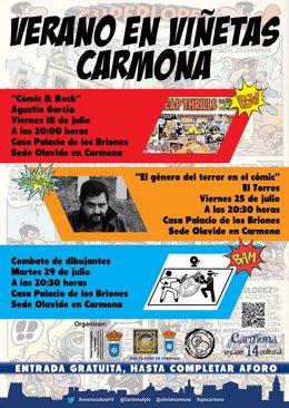 Cartel que anuncia este 'combate' entre dibujantes