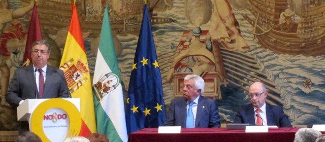 Juan Ignacio Zoido, Francisco Herrero y Cristóbal Montoro.