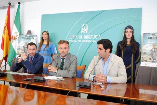 El delegado de la Junta en Huelva, José Fiscal, presenta jornadas de Cortegana.
