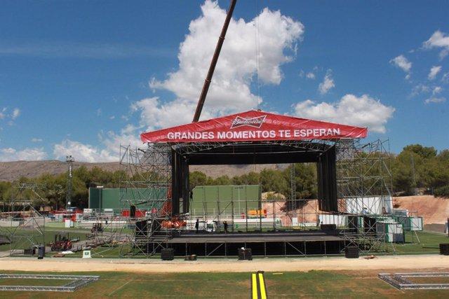 Escenario principal donde se desarrollará el Low Festival