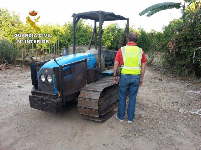 El tractor recuperado