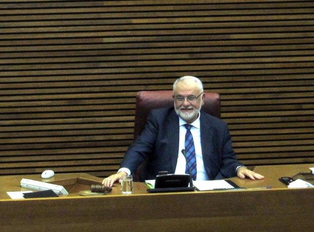 El presidente de las Corts Valencianes, Juan Cotino.